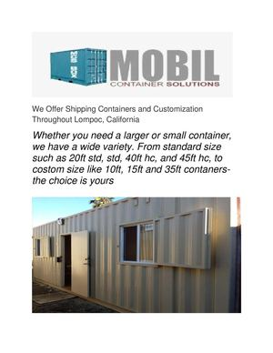 Calaméo Shipping Containers Norwalk Mobil Container Solutions