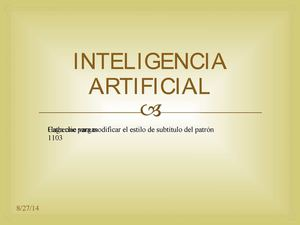 INTELIGENCIA ARTIFIAL