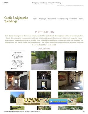 Photo gallery - Castle Spaces - Castle Ladyhawke Weddings