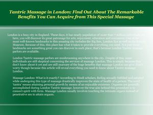 Enjoy A Revitalizing Massage to Relax Your Senses with Tantric Massage in London