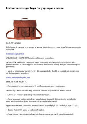 Leather messenger bags for guys upon amazon