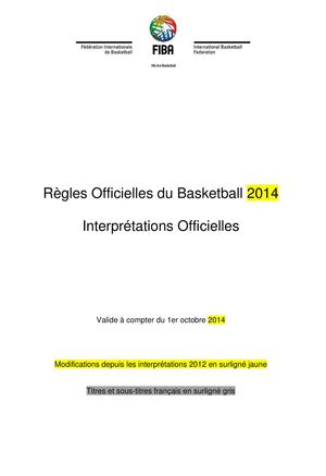 INTERPRETATION FIBA 2014