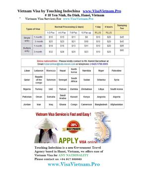 How much does a Vietnam Visa Cost?