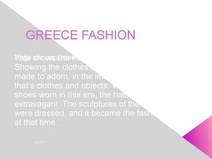 GREECE FASHION