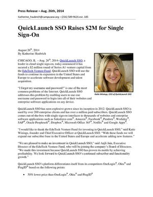 QuickLaunch SSO Raises $2M for Single Sign-On