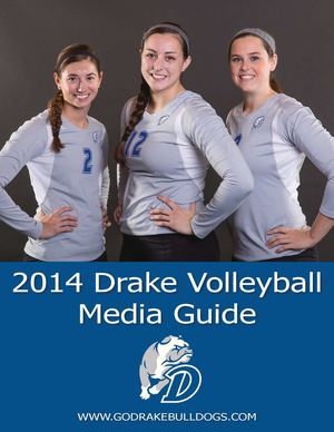 2014 Drake Volleyball Media Guide