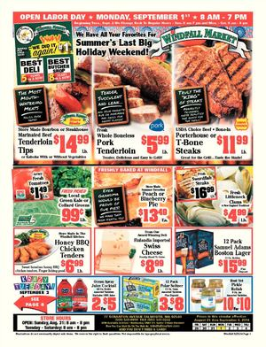 Windfall Market Weekly Deals 08/29/14-09/04/14
