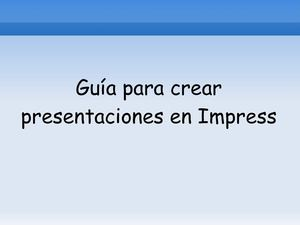 Tutorial impress