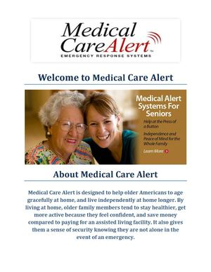 Emergency Medical Alert Systems: Medical Care Alert (1-877-913-3680)