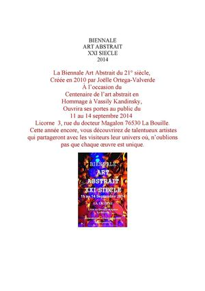 Biennale Art Abstrait du XXI siecle 2014