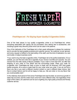 Choosing from an Impressive Collection of Flavorful Ecigs