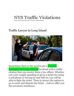 Calaméo - Traffic Lawyer Long Island (Law Office of Isaac Abraham)