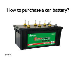 How to purchase a car battery