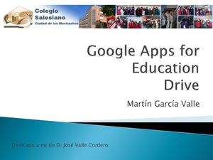 Google Apps for Education Drive Salesianos Ciudad de los Muchachos