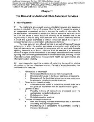 calam o auditing and assurance service 15e test bank solution rh calameo com Manual Casio Databank Bank Secrecy Act