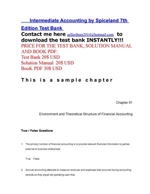 Calameo Intermediate Accounting 7e By Spiceland Chapter01 Tb