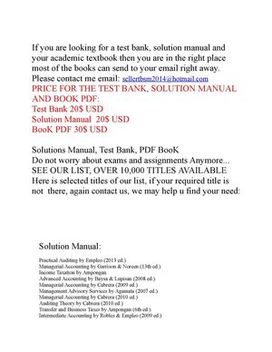Calameo Selling Test Bank Solution And Pdf Book