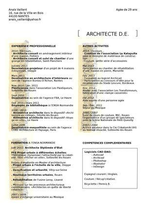 Calaméo Cv 2014 Architecte D E