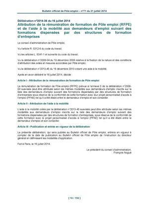 Calameo Attribution De La Remuneration De Formation De Pole Emploi