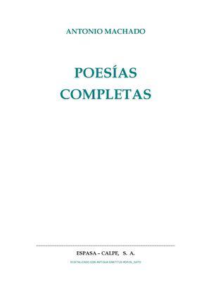 Calaméo - Poesías completas de Antonio Machado