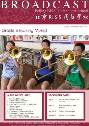 Beijing BISS International School Broadcast - Issue 3 September 5th 2014