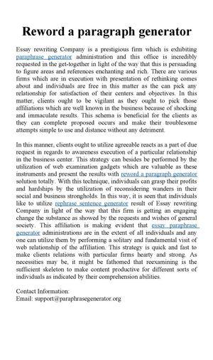 Calaméo - Reword a paragraph generator