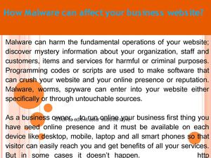 How Malware can affect your business