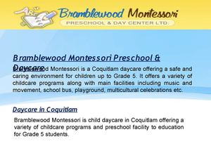 Coquitlam Child Day Care Offering the Best Daycare Facilities