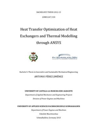 Calaméo - Heat Transfer Optimization of Heat Exchangers and