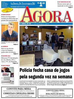 0f9cec6d2 Calaméo - Jornal Agora - Edição 10948 - 20 e 21 de setembro de 2014