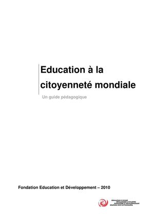 Guide Education Citoyennete Mondiale