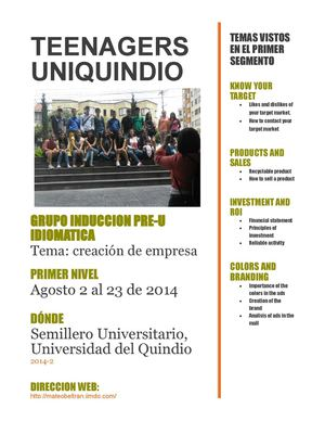 Teenagers Uniquindio Magazine
