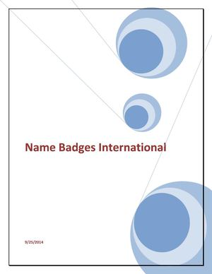 Purposes of Corporate Name Badges