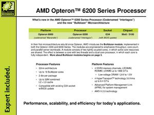 AMD Opteron™ 6200 Series Processor Guide, Silicon Mechanics