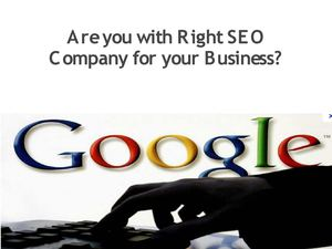 Global SEO Services- Are you with Right SEO Company for your Business