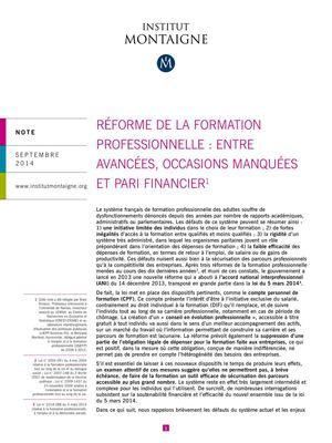 note_formation_professionnelle_institut_montaigne sept 2014