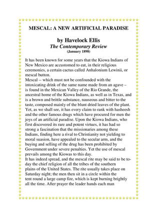Havelock Ellis A New Artificial Paradise