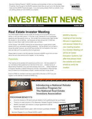 The Investment News:  October 2014