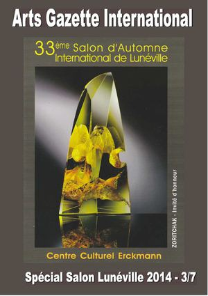 Arts Gazette International - N°Spécial 33e Salon d'Automne International de Lunéville 3eme parties