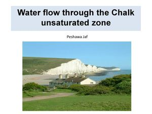 Water Flow In Unsaturated Chalk Aquifer