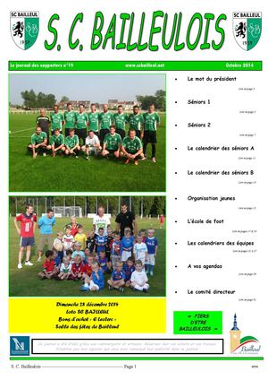 Le journal des supporters n°19