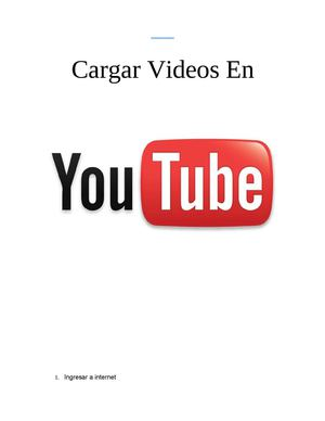 como subir un video en youtube