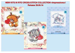 "New kits in RTO cross-stitch collection ""Impressions"", Release 29.09.14"