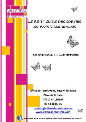 Programme des animations - OCTOBRE