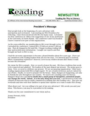 FRA Fall 2014 Newsletter