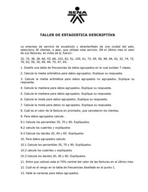 Taller De Estadistica Descriptiva