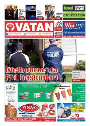 Yeni Vatan Turkish Newspaper Issue No: 1769