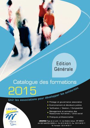 Catalogue Formations URIOPSS PDL 2015
