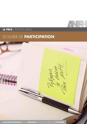 Bulletin de participation - Prix ANFH 2015