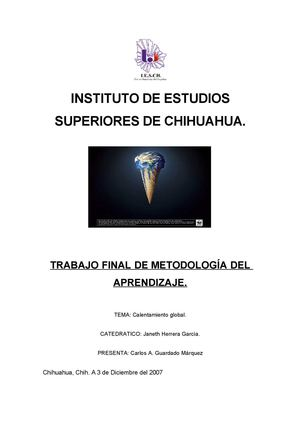 Calentamiento Global Documento Final I
